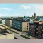 Widokówka Końskie widok ogólny z ulicy Hubala - wysłana 1969 roku